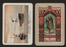 Collectable 2 Playing cards SINGLE advertising cards shipping line #039